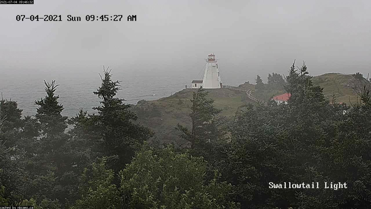 Web Cam image of Grand Manan (Swallowtail Light House)