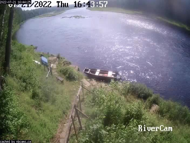 Web Cam image of Boiestown (Miramichi River)