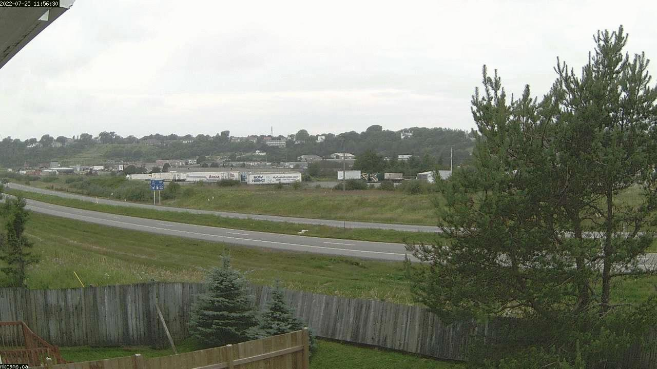 Outdoor web cam in Saint John, New Brunswick - Camera # 1 (Showing a view of NB Highway 1)